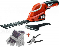 Аккумуляторные ножницы BLACK&DECKER gsl700kit-ks+сек.+пер.